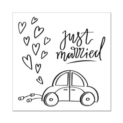 Наклейка (стикер) Свадебная тематика. Wedding