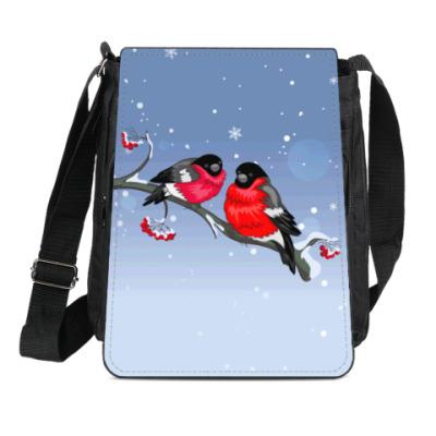 Сумка-планшет Два снегиря