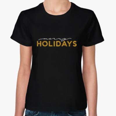 Женская футболка Merry holidays
