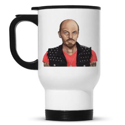 Кружка-термос Ленин хиппи
