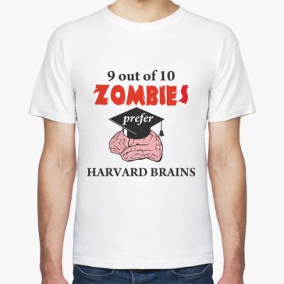 Футболка Harvard brains