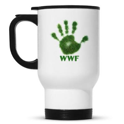 Кружка-термос WWF. Дай пять!