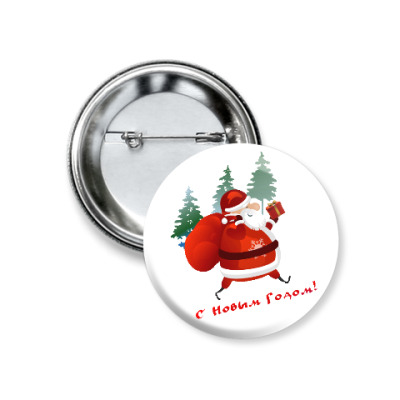 Значок 37мм Дед Moroz