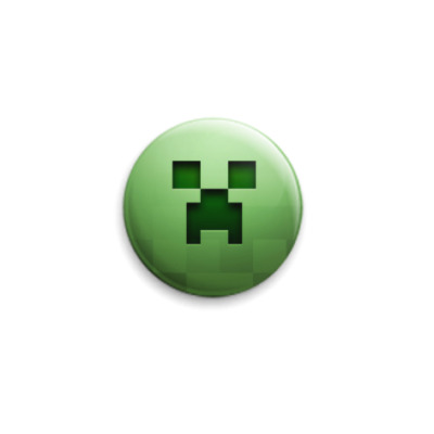 Значок 25мм Minecraft Creeper