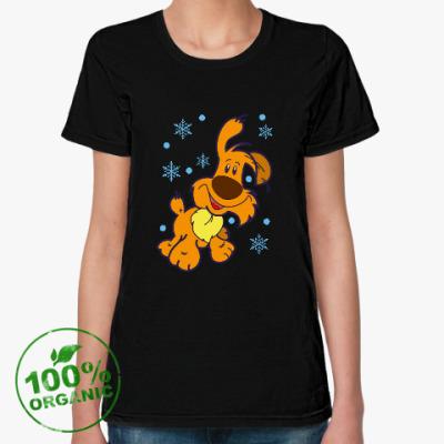 Женская футболка из органик-хлопка Год желтой собаки