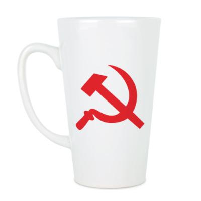 Чашка Латте Серп и молот - СССР