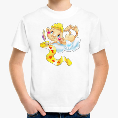 Детская футболка КУПИДОН НА ОБЛАКЕ