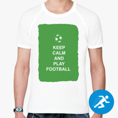 Спортивная футболка Keep calm and play football