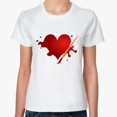 Классическая футболка Сердце и кисть