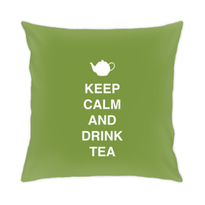 Подушка Keep calm and drink tea