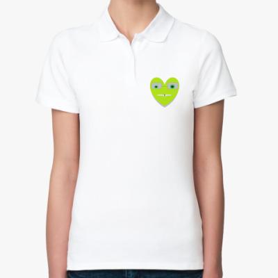 Женская рубашка поло Funny heart
