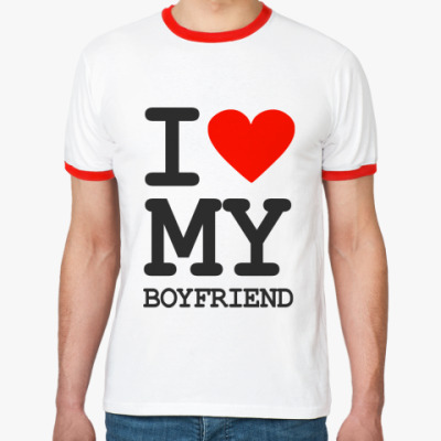 Футболка Ringer-T I love my boyfriend