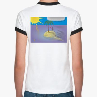 Женская футболка Ringer-T Островок