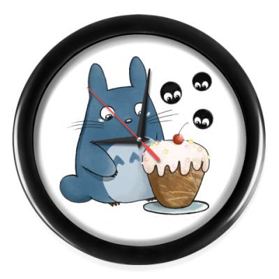 Настенные часы Тоторо и кексик
