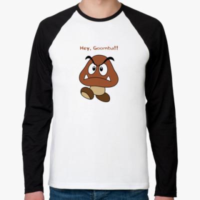 Футболка реглан с длинным рукавом Hey, Goomba!!