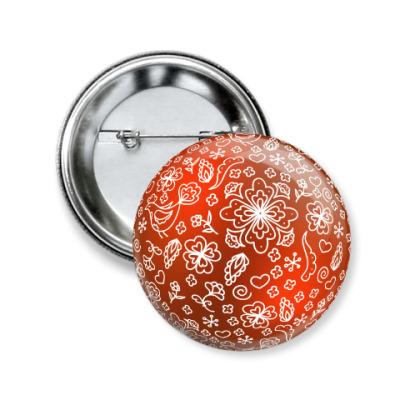 Значок 50мм Елочный шар