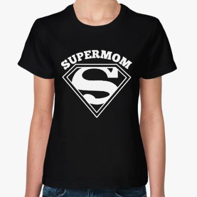 Женская футболка Супермама (Supermom)