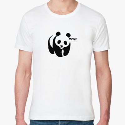 Футболка из органик-хлопка WWF. Панда с лого