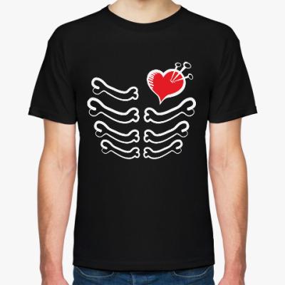 Футболка Скелет и сердце