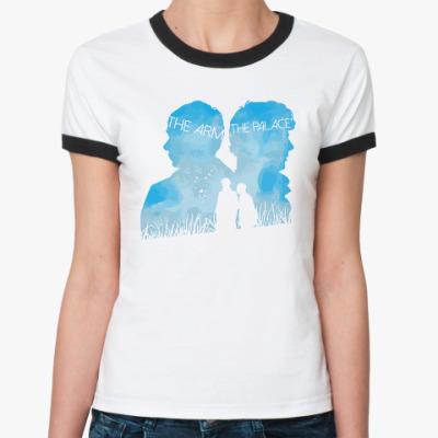 Женская футболка Ringer-T Sherlock Sky