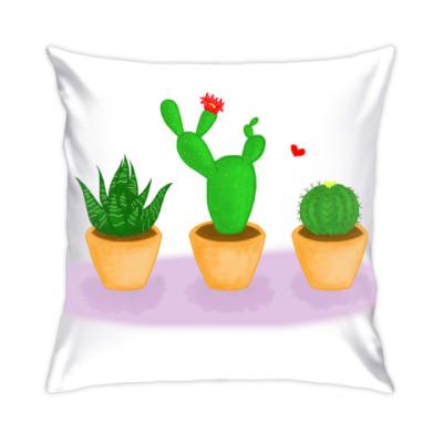 Подушка Кактусы