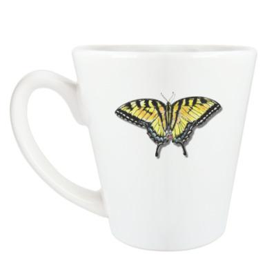 Чашка Латте Бабочка