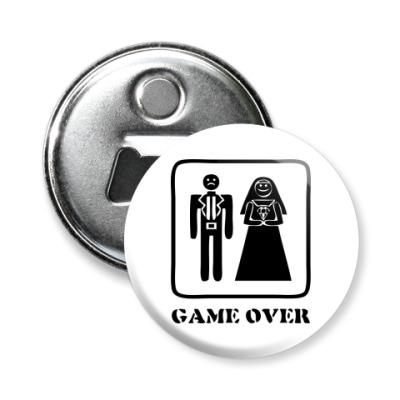 Магнит-открывашка Game Over