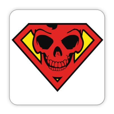Костер (подставка под кружку) Skull Superman