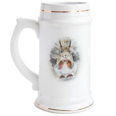 Пивная кружка Белочка
