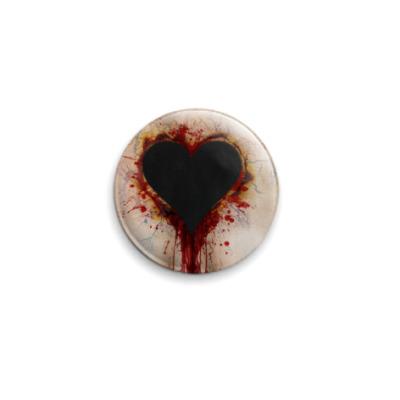 Значок 25мм  Разбитое сердце