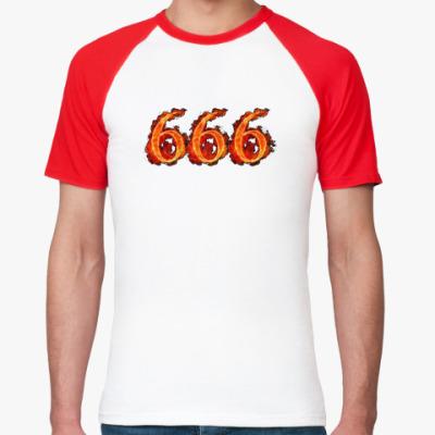 Футболка реглан 666