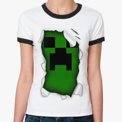Женская футболка Ringer-T Майнкрафт