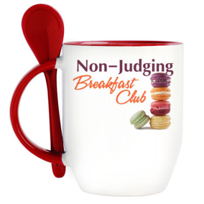 Кружка с ложкой Non-Judging Breakfast Club