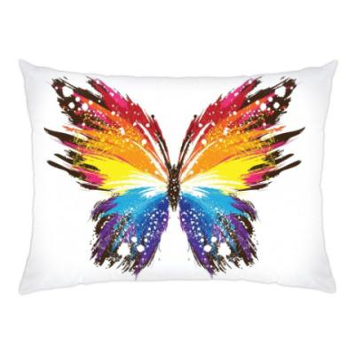 Подушка радужная бабочка