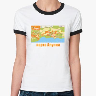 Женская футболка Ringer-T Карта Алупки