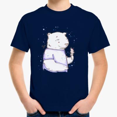 Детская футболка Медведь с мороженым
