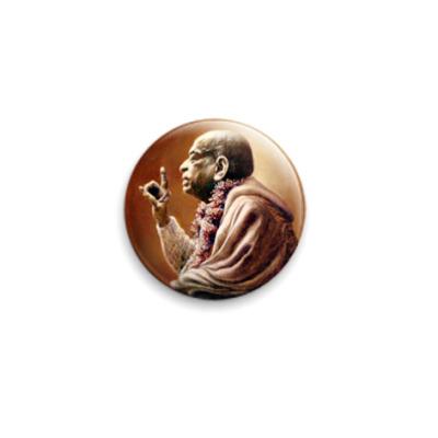 Значок 25мм Шрила Прабхупада