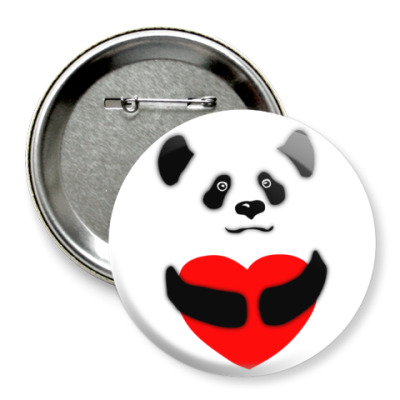 Значок 75мм Панда