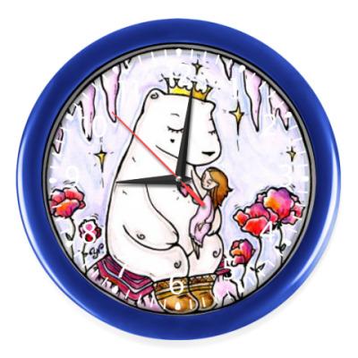 Настенные часы Полярный медведь и девочка