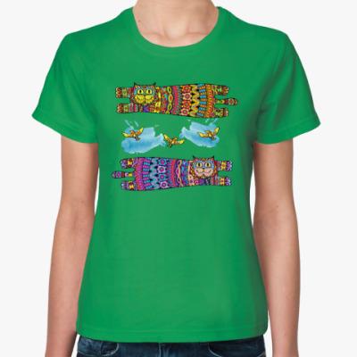 Женская футболка Галлюциногенные коты