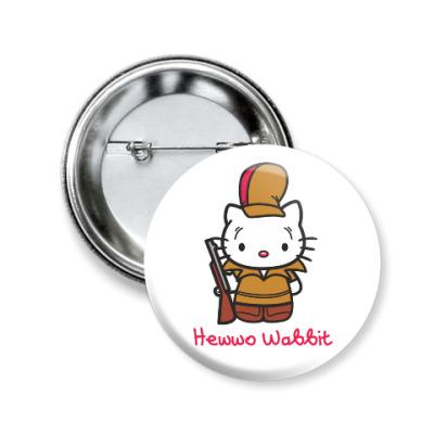 Значок 50мм Hawwo Wabbit
