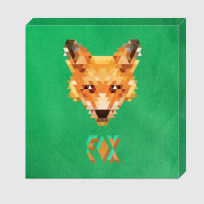 Холст Fox Pixel