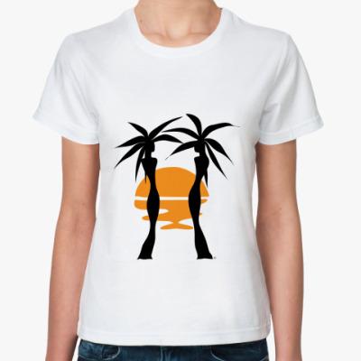 Классическая футболка  Пальмы