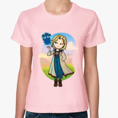Женская футболка Доктор кто