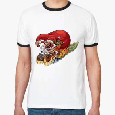Футболка Ringer-T Crazy Santa