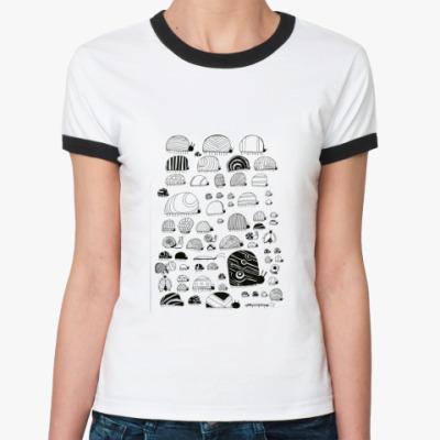 Женская футболка Ringer-T много жукашек