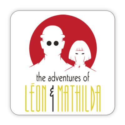 Костер (подставка под кружку) Леон и Матильда