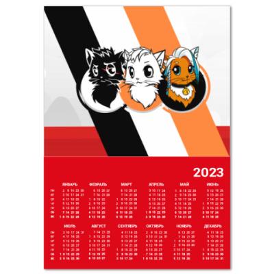 Календарь Коты Ютуберы