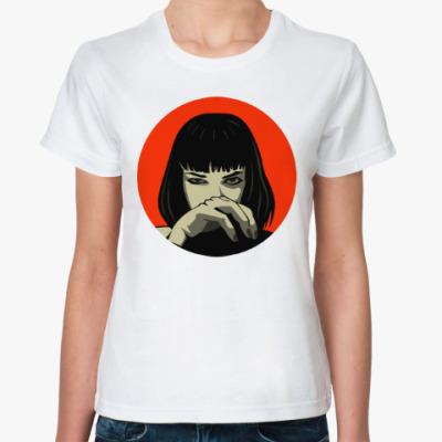 Классическая футболка Мия Уоллес (Криминальное Чтиво)