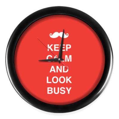 Настенные часы Keep calm and look busy